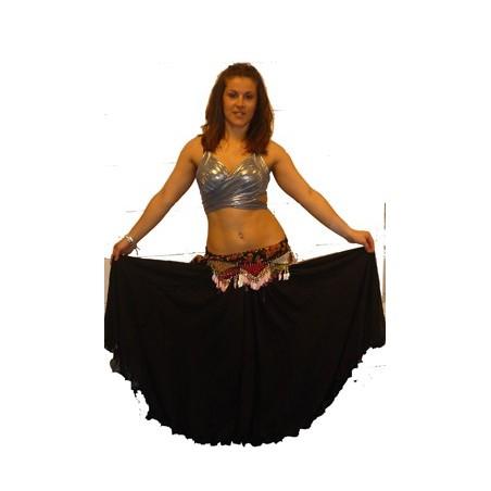 falda gasa 2 capas lisa