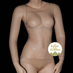 Body nude glittered