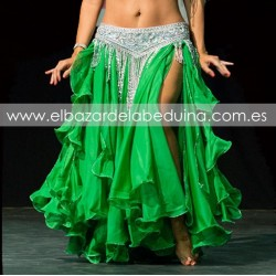 Belly dance double layer skirt