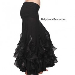 Godet belly dance skirt