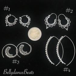 Silver 925 Boho earring