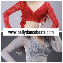 Sleeved Lace belly dance top
