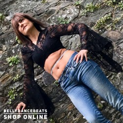 Lace belly dance top LS