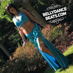 Belly dance hip scarf
